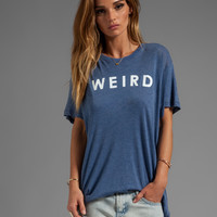 Wildfox Couture Weird Over Sized Tee in City Night