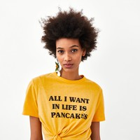 CROPPED T-SHIRT WITH SLOGANDETAILS