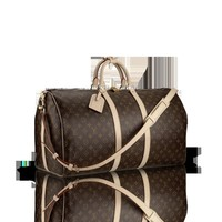 LOUISVUITTON.COM - Louis Vuitton  Keepall 50 with Shoulder Strap (LG) MONOGRAM Travel
