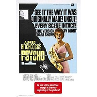 Hitchcock's PSYCHO movie poster HORROR THRILLER anthony perkins 24X36 COOL