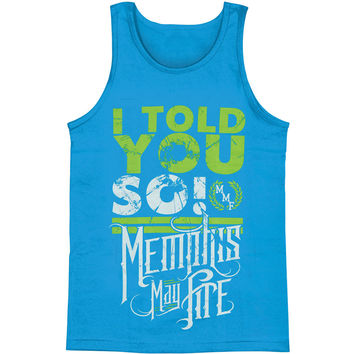 Memphis May Fire Men's  Told You So Mens Tank Blue Rockabilia