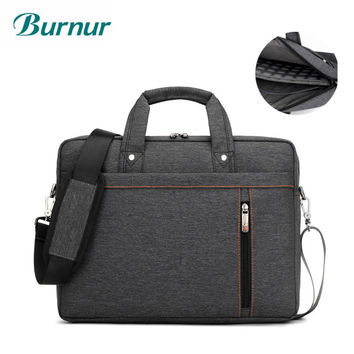 Brand  Luxury thick waterproof Laptop bag 17.3 17 15.6 15 14 13.3 13 inch  Shoulder portable Messenger Women Notebook bag 2017