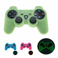 GLOW in DARK Playstation 3 PS3 Wireless Game Controller Anti-Slip Silicone Case Skin Protector Cover (Many Colors Available)