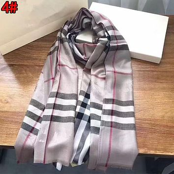 Burberry Trending Couple Stylish Classic Plaid Warm Cashmere Cape Scarf Scarves Shawl Accessories