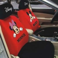 Mickey Mouse Auto Car Front Rear Seat Cover Cushion 10p