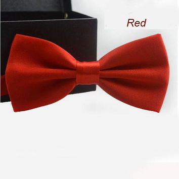ESBNO New Adjustable Men's Multi Silk Pine Bow tie Wedding Party Necktie Bowtie For Men Candy Solid Colors Neckwear Pre-Tied 19525