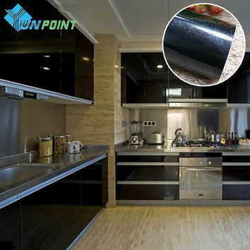 3M 5M New Waterproof Wall paper Roll Self adhensive Vinyl Wallpaper Kitchen Cabinet Wall Stickers Furniture PVC Decorative Film