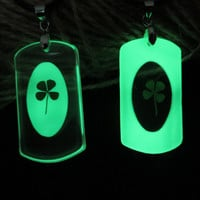 clover glow couple necklace/lover necklace/promise necklace