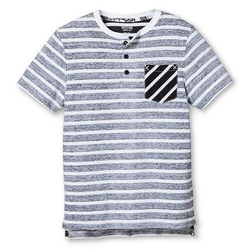 Mossimo Supply Co. Boys' Stripe Pocket Tee, Large, Gray