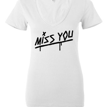 "Louis Tomlinson ""Miss You"" Women's V-Neck T-Shirt"
