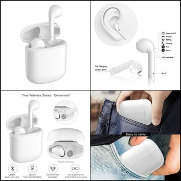 Apple AirPods Bluetooth In Ear Wireless Headset Portable Charger iPhone 6/7/8/X