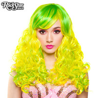 RockStar Wigs® Show Girl Collection - Lime Green & Yellow Blend - 00722