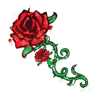Tattoo Sales: Medium Double Rose Temporary Tattoo: Buy Flower Temporary Tattoos - Buy Direct From The Source