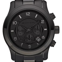 Michael Kors 'Large Runway' Blacked Out Chronograph Watch, 45mm
