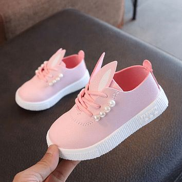 Flat Shoes For Girls Lace Up Sneaker