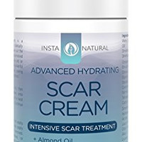InstaNatural Scar Cream - Best Removal Treatment for Old & New Scars - With 15% Sea Kelp Bioferment, Almond Oil, Epidermal Growth Factor, Niacinamide, MSM & Vitamin E - Skin Hydrating Formula - 1 OZ
