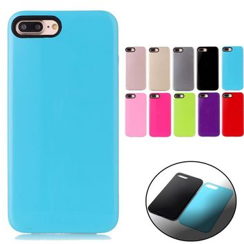 2in1 Hard PC Shell Soft Slicone Protective Cover Case Skin For Iphone 6S 7 Plus