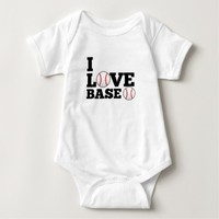 I Love Baseball Sports Baby Jersey Bodysuit