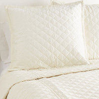 Ann Gish Velvet Coverlet Set - Cream/Tan