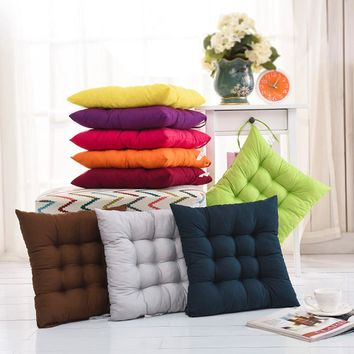 Home Office Decor Comfortable Cotton Seat Cushion Winter Office Bar Chair Back Seat Cushions Sofa Pillow Buttocks Chair Cushion