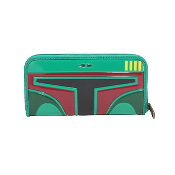 Loungefly Star Wars Boba Fett Patent Leather Zipper Wallet