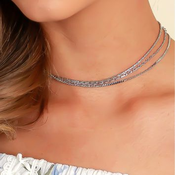 The Chain Choker Silver