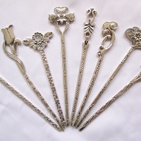 Hair Pins Silver Miao