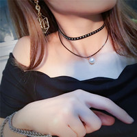 Shiny Gift Jewelry New Arrival Stylish Accessory Pearls Tassels Necklace [9052194884]