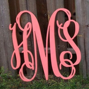 Monogram Wooden Letters For Wall On Wanelo