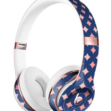 Pink Diamonds All Over Navy Pattern Full-Body Skin Kit for the Beats by Dre Solo 3 Wireless Headphones