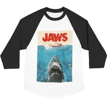 Jaws Men's  Poster Baseball Jersey Black/Grey