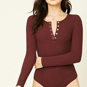 Snap-Button Front Bodysuit
