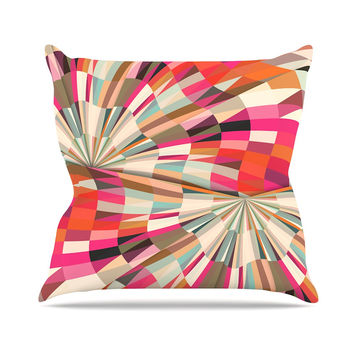 "Danny Ivan ""Convoke"" Multicolor Geometric Throw Pillow"