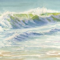 Splash Giclée print of breaking wave by maryellengolden on Etsy