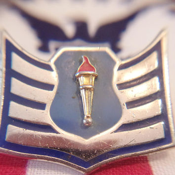 Military Wings Pin Blue Enamel Armed Forces Service Medal Jewelry Accessories