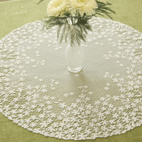 Heritage Lace Blossom Round Doily