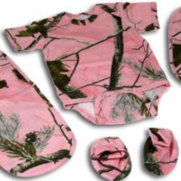 Realtree AP HD Pink Camo 5 Piece Baby Set