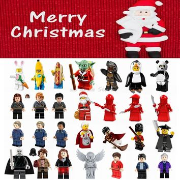 Legoing starwars Merry Christmas Day toys gift figures Master Yoda Panda penguin Model Building Blocks Toys for Children Legoing