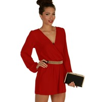 Sale-red My Way Romper