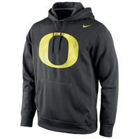 Oregon Ducks Nike Warp Logo Therma-FIT Hoodie - Black
