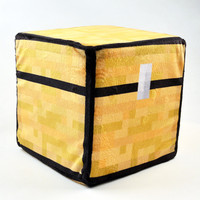 """New Arrive"" Minecraft Treasure Chest Plush Pillow 20*20*20CM 1PCS In Stock!!"