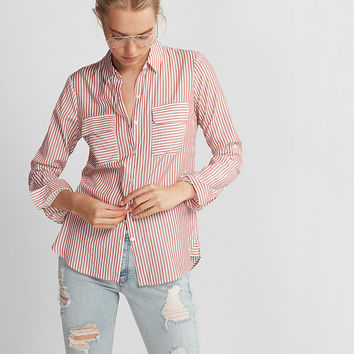 Striped City Shirt By Express