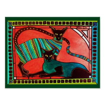 Legend of the Siamese - Whimsical Cat Art Poster