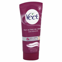 Veet Fast Acting Gel Cream Hair Remover - Legs and Body - Essential Oils and Velvet Rose Scent - 6.78 oz (200 ml)