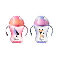 Tommee Tippee 2 Pack 8 Ounce Trainer Sippy Cup- Pink & Purple