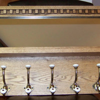Mirrored Antique Style Coat Rack with Shelf