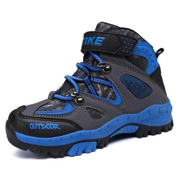 Kids Climbing Boots Hiking Shoes Flat Anti-Slip Sport Sneakers Shoes Children Outdoor Wear-Resistant Shoes AA60080