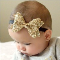 Baby Shiny Bow Knot Headband Girls