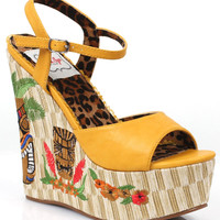 Yellow & Tiki Keke Wedges