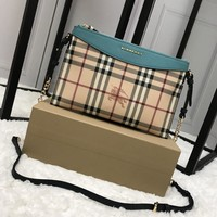 Burberry Haymarket Checkleather Clutch Bag